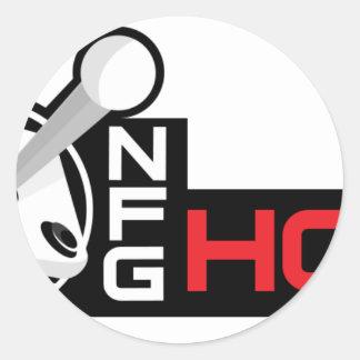 NFG HON ROUND STICKER