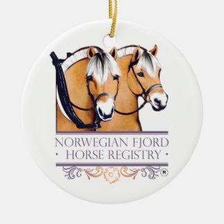 NFHR Logo Christmas Logo Ceramic Ornament