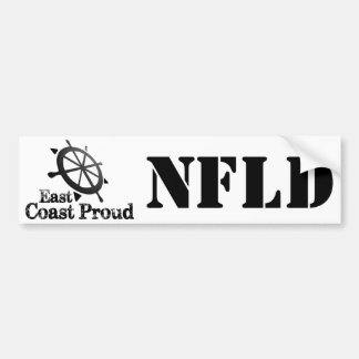 NFLD East Coast Proud Nautical Bumper Sticker