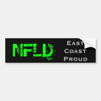 NFLD Green Text Sticker Bumper Stickers