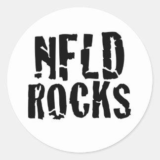 Nfld Rocks Round Sticker
