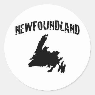 Nfld Round Stickers