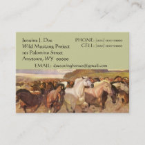 NFP WILD MUSTANG HORSES CONTACT BUSINESS CARD