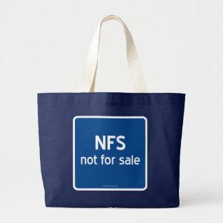 NFS no para la venta Bolsa Tela Grande