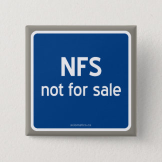 NFS not for sale Button