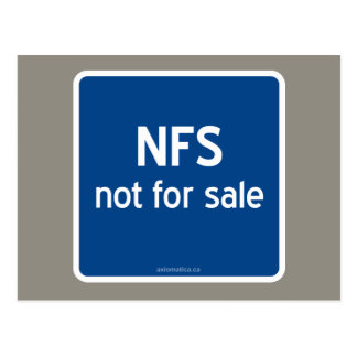 NFS not for sale Postcard