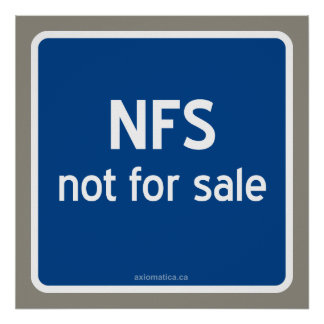 NFS not for sale Poster