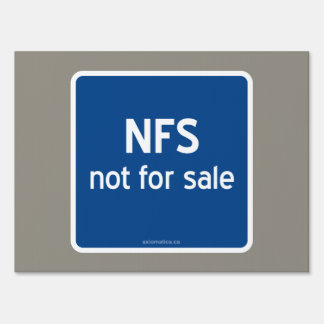NFS not for sale