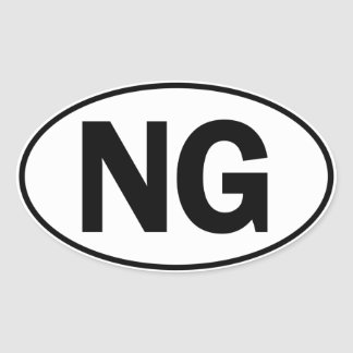 NG Oval Identity Sign Oval Sticker