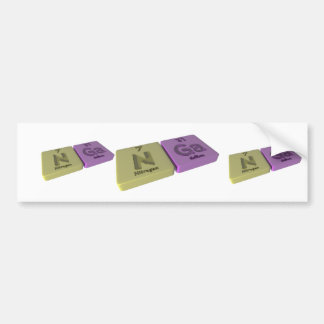 Nga as Nitrogen N  and Gallium Ga Car Bumper Sticker