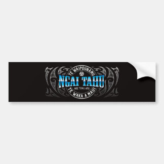 Ngai Tahu Lifer Moko Chrome Bumper Sticker