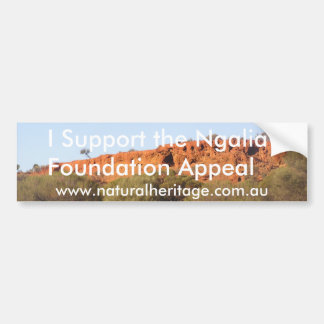 Ngalia Foundation Appeal Bumper Sticker