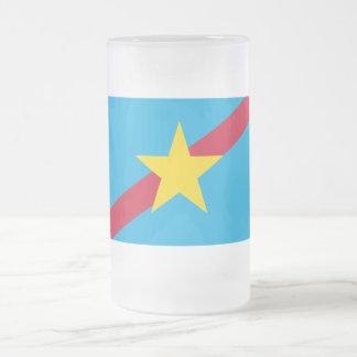Ngaraard Flag Frosted Glass Beer Mug