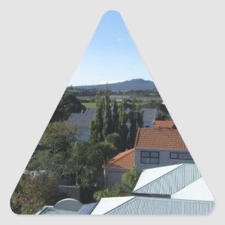 Ngataringa Bay And Rangitoto Island Triangle Sticker