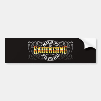 Ngati Kahungunu Lifer Moko Chrome Bumper Sticker