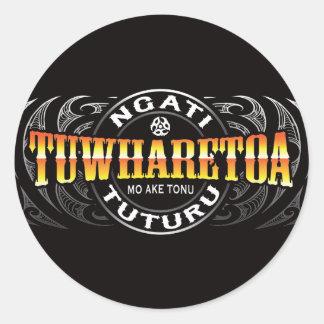 Ngati Tuwharetoa Life Moko Chrome Classic Round Sticker