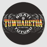 Ngati Tuwharetoa Life Moko Chrome Round Stickers
