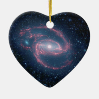 NGC 1097 Coiled Galaxy of the Night Ceramic Ornament