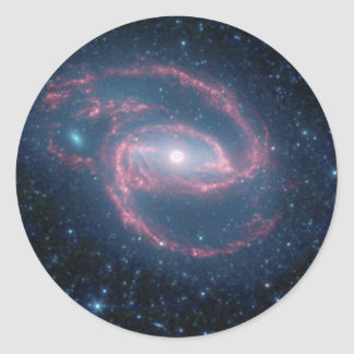 NGC 1097 Coiled Galaxy of the Night Classic Round Sticker