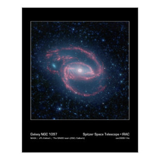 NGC 1097 Coiled Galaxy of the Night Poster