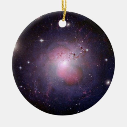 NGC 1275 Perseus cD galaxy Double-Sided Ceramic Round Christmas Ornament