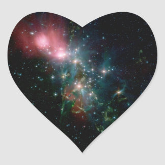 NGC 1333 Chaotic birth of stars Heart Sticker