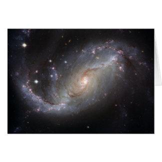 NGC 1672 Barred Spiral Galaxy Card