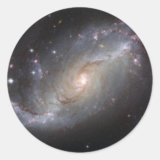 NGC 1672 Barred Spiral Galaxy Classic Round Sticker