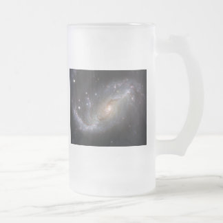NGC 1672 Barred Spiral Galaxy Frosted Glass Beer Mug