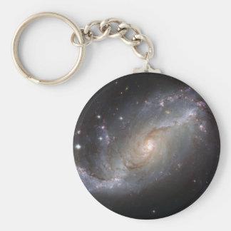 NGC 1672 Barred Spiral Galaxy Keychain