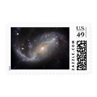 NGC 1672 Barred Spiral Galaxy Postage