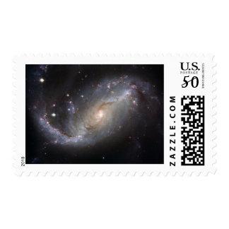 NGC 1672 Barred Spiral Galaxy Postage