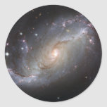NGC 1672 Barred Spiral Galaxy Round Stickers