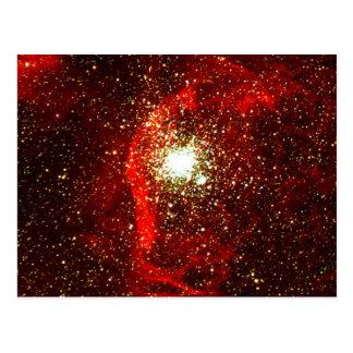 NGC 1850: Nubes y cúmulos de estrellas del gas Postal