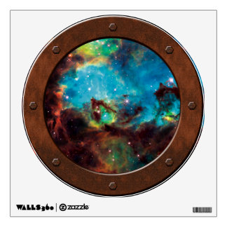 NGC 2074 Steampunk Porthole Window View Wall Decal