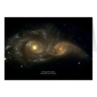 NGC-2207 and IC-2163 Grazing Galaxies Card