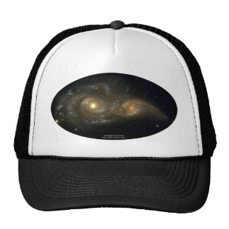 NGC-2207 and IC-2163 Grazing Galaxies Mesh Hat