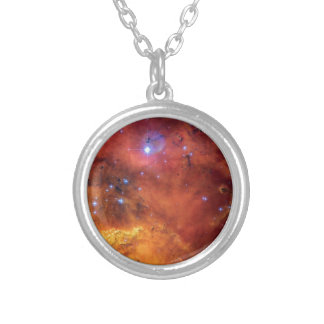 NGC 2467 Nebula - Hubble Space Telescope Photo Silver Plated Necklace