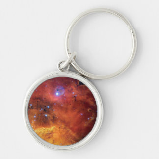 NGC 2467 Star Forming Nebula Silver-Colored Round Keychain