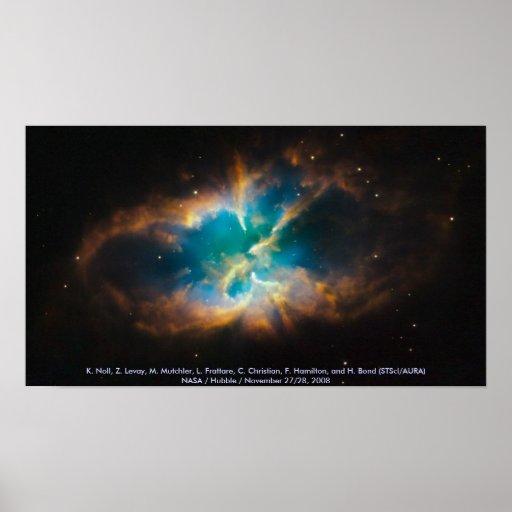 NGC 2818/nebulosa planetaria Póster