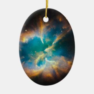 NGC 2818 Planetary nebula glowing Ceramic Ornament