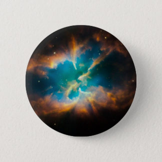 NGC 2818 Planetary nebula glowing Pinback Button