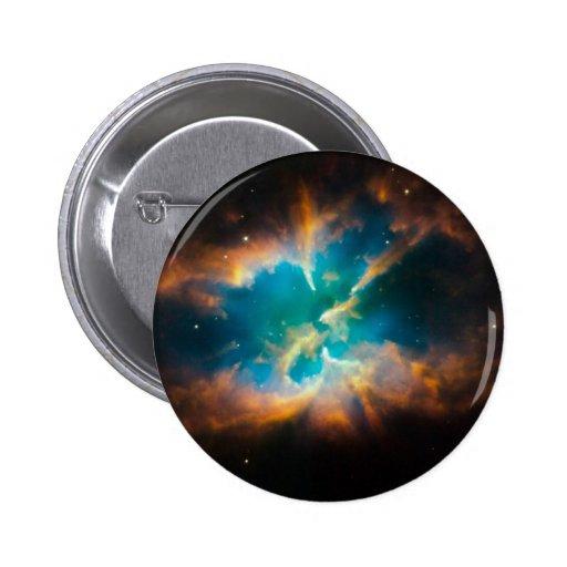 NGC 2818 Planetary nebula glowing Pinback Button