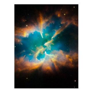 NGC 2818 Planetary nebula glowing Postcard