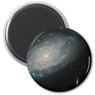 NGC 3370, deep space, spiral galaxy 2 Inch Round Magnet