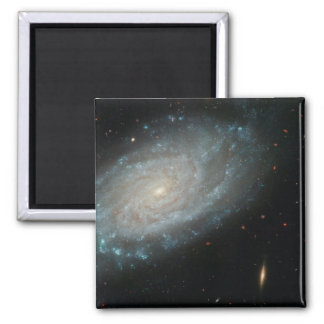 NGC 3370, deep space, spiral galaxy 2 Inch Square Magnet