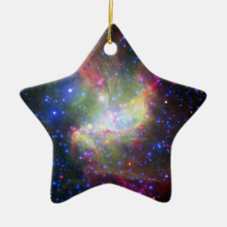 NGC 346 Cluster and nebula in Tucana Ceramic Ornament
