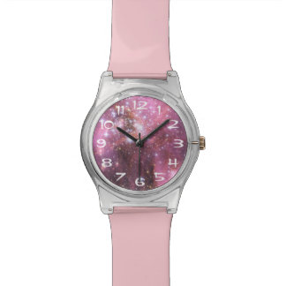 NGC 346 in Pink Wrist Watches