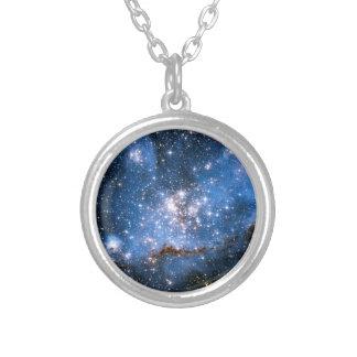 NGC 346 Infant Stars Round Pendant Necklace
