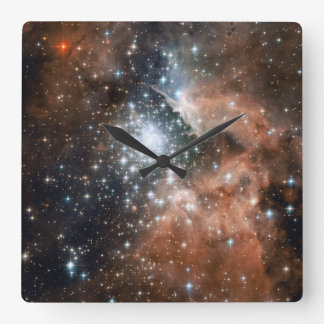 Ngc 3603 Emission Nebula Square Wall Clock